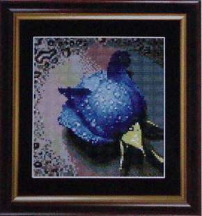 出售ks十字绣 滴水玫瑰(蓝色)