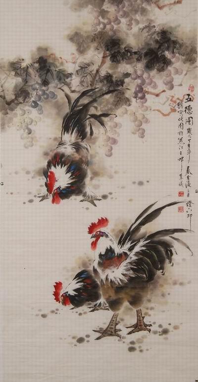 吴秉钧的丹顶鹤国画
