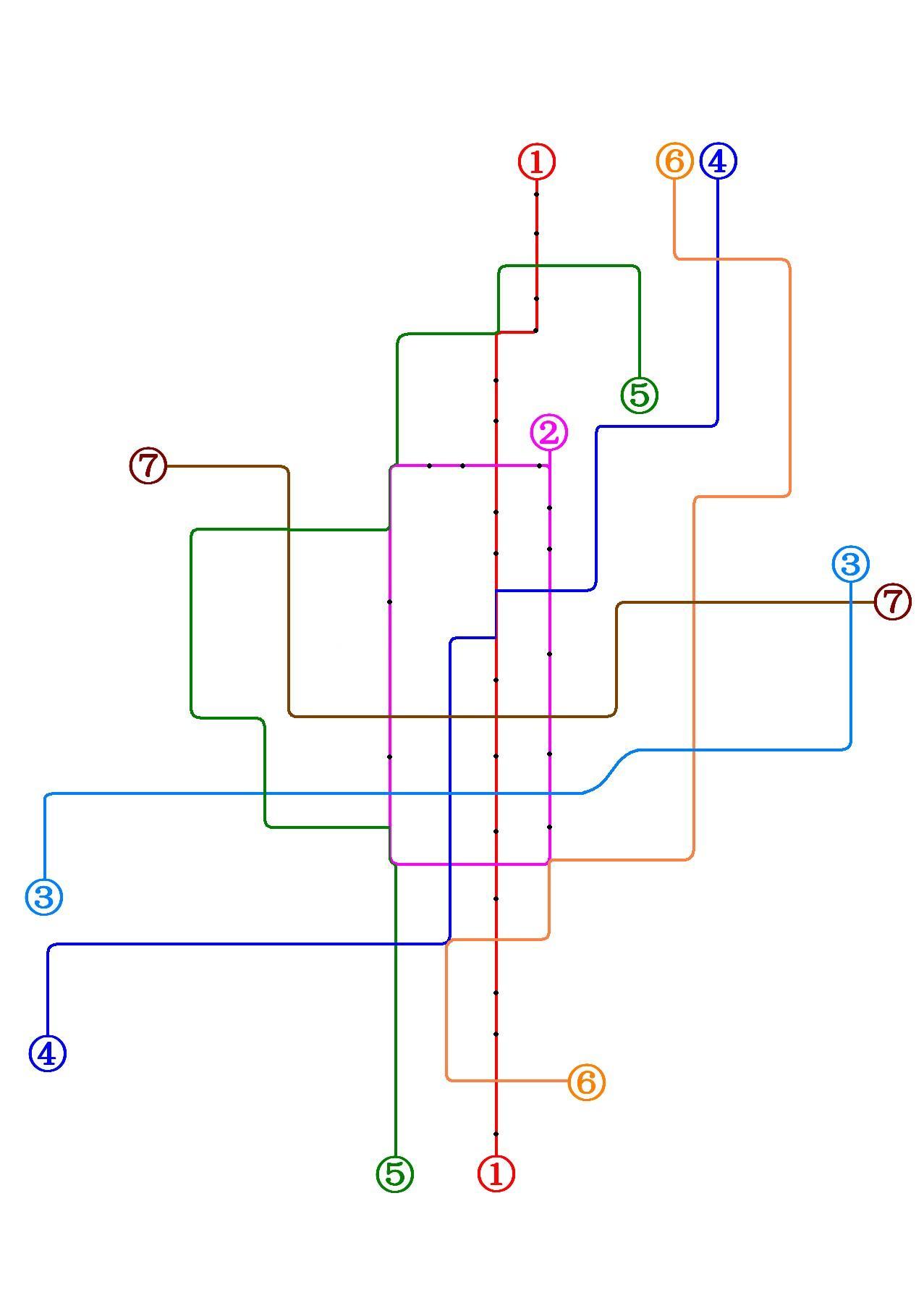 [原创]永安市轨道交通地铁图!